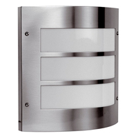 ANSELL Acqua 60W E27 PIR Wall Light Stainless Steel
