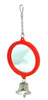 Beaks Round Bird Mirror & Bell - Small x 1