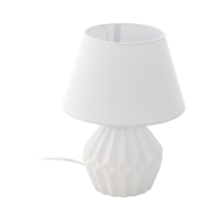 EGLO Altas Ceramic White with White Shade Table Lamp | LV1902.0075