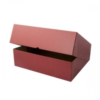 BOX GIFT 400X400X145MM  BURGUNDY
