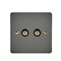 Flat Plate Black Nickel 2G TV/FM COAX BLACK LV0701.0561