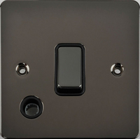 Flat Plate Black Nickel 20A DP Switch F/O BLACK | LV0701.0344