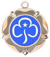 40mm Bronze Rose Polished Backed Medal