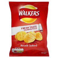 Walkers Ready Salted Crisps- 32x32.5g