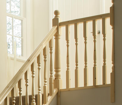 STAIR SYSTEM COMPLETE DEAL TURNED SPINDLES