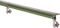 2.50M Green 50 x 50 x 6mm A/Iron End For 1800mm Fence
