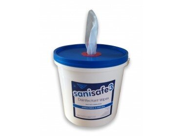 SANISAFE 3 Surface Disinfectant Wipes (2000) Packed in Tubs