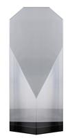 17cm Clear/BK Crystal  Award (Satin Box)