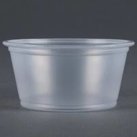 Container Plastic Souffle Clear 2oz