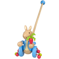 wooden push along Peter rabbit toy