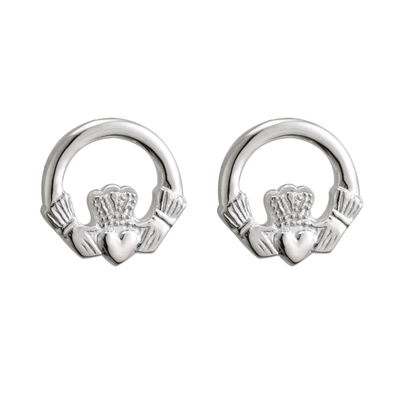 S/S SMALL CLADDAGH STUD (MINI-ME) POST 11MM
