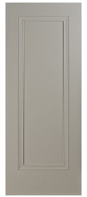 Prague 1 Panel Silk Grey Premium Primed 2032x813mm (80x32 inch)