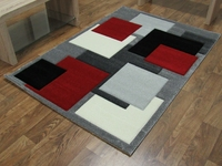 TEMPO - SQUARES - BLACK/RED