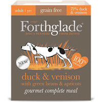 Forthglade Gourmet Dog Duck & Venison with Green Beans & Apricot 395g x 7