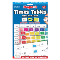 Times Tables Magnetic activity set - Front of packaging