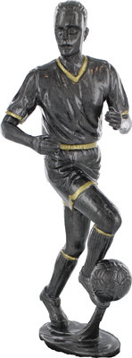 175mm Plastic Soccer Figure (Ant Silver with