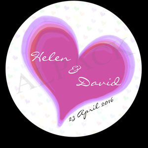 PINK HEART LABEL