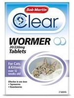 Bob Martin 2 in 1 Cat & Kitten Dewormer Tablets x 1