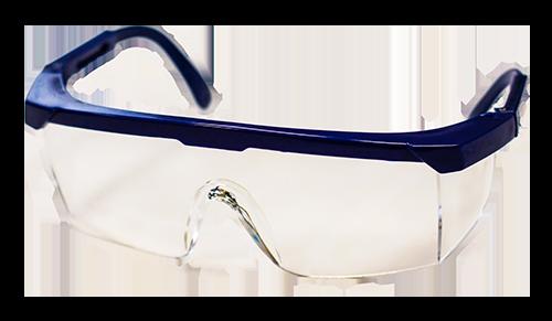 DMI Adult Safety Glasses Blue Frame - DMI Dental Supplies Ireland - Next Day Delivery