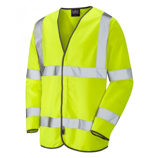 Long Sleeved Class 3 Yellow Hi-Vis Vest