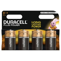 Duracell Plus MN1300 D Battery 4pk