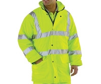 REDBACK Dri-Flex PU Hi-Visibility Waterproof Lined Jacket Yellow