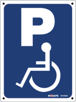 Parking Sign - Wheelchair Image