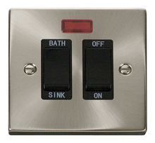 Click Litehouse DECO 20A DP Sink/Bath Switch Black insert