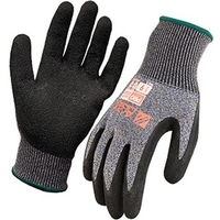 Arax Dry Grip Latex Crinkle Coat Cut Level D Glove