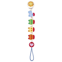 Wooden Train Pacifier Chain
