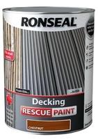 Ronseal Decking Rescue Paint 5lt - Chestnut