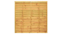 Pro Lap Fence Panels Green and Golden Brown