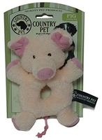 Country Pet Puppy Toy - Pig Teething Ring x 1