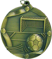 60mm Soccer Medallion (Antique Gold)