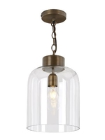 Oviedo 1 Light Lantern Pendant, Antique Brass & Glass | LV1802.0082