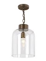Oviedo 1 Light Lantern Pendant, Antique Brass & Glass | LV1802.0082