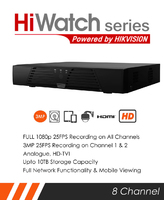 HiWatch Turbo 3MP 8 Channel Recorder