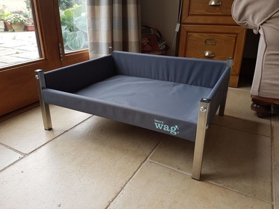 Henry Wag Elevated Dog Bed Ash Grey - XL x 1