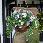 Faux Décor Petunia Hanging Easy Basket - 30cm with background