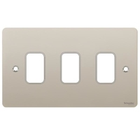 Switch Ultimate 3 Gang Flat Plate Pearl Nickel