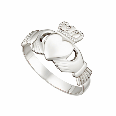 14KW LADIES CLADDAGH RING