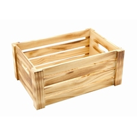 Wooden Crate Rustic 34 x 23 x 15cm