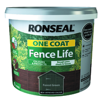 RONSEAL ONE COAT FENCELIFE FOREST GREEN 12 LTR