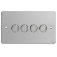 Flat Plate Stainless Steel LV DIMMER 4G2W 250W | LV0701.0554