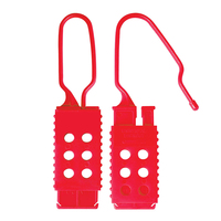Master Lock Nylon non-conductive lockout hasp, 25mm x 64mm jaw clearance