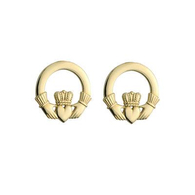 10 karat gold  claddagh stud earrings