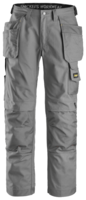 "SNICKERS 3214 CANVAS HOLSTER POCKET TROUSERS 044 GREY (W30"" X L32"")"
