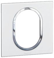 Arteor (British Standard) Plate 3 Module 1 Gang Round White| LV0501.2693