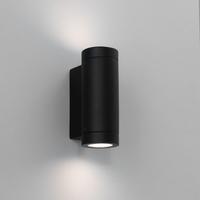 ASTRO PORTO PLUS TWIN MATT BLACK IP44 WALL LIGHT