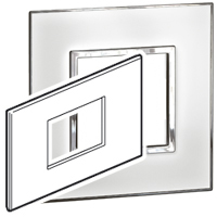 Arteor (British Standard) Plate 3 Module Mirror White | LV0501.0168